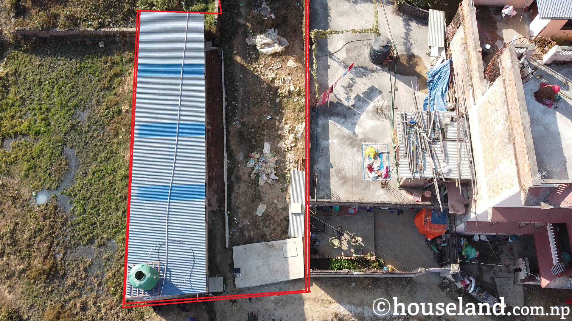 5 Aana Land Sale in Raniban with Trash House